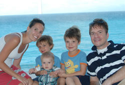 Michael and Jessica Bartlett with their three boys