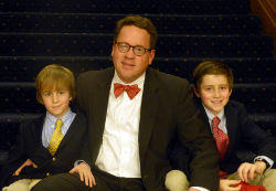 Tom Albus with sons